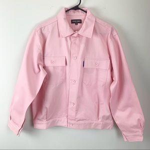 Know Wave Mens Light Pink Engineer Jacket, Medium